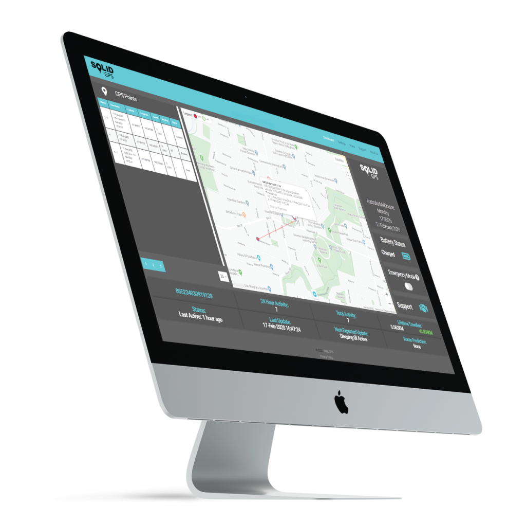 Solid GPS Dashboard on a Computer