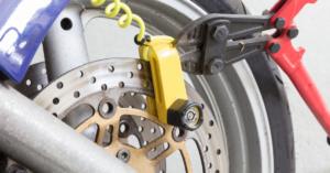 Bolt cutting a motorbike lock