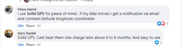Solid GPS Motorcycle Testimonial 2