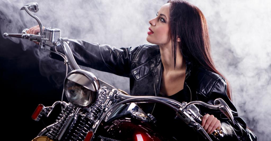 Woman with Motorbike Tracker