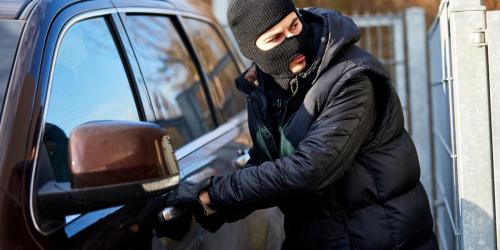 Car Thief Stealing a Vehicle
